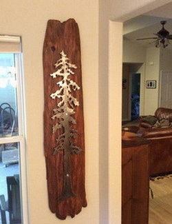 декор для стен из металла елка
