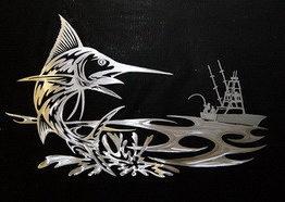 художественная плазменная резка, рыбы