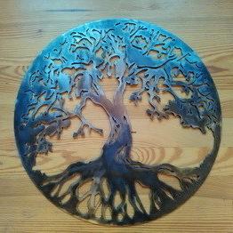 картины из металла, дерево жизни