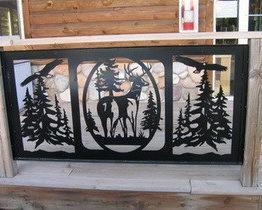панели из металла лесной сюжет
